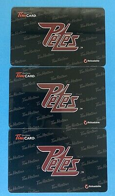 2014 PETERBOROUGH PETES TIM HORTONS OHL HOCKEY GIFT CARD LOT X 3 - New No Value