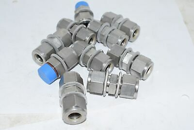 Mixed Lot of 10 NEW Swagelok Coupling Fitting Connector 316 1/2''