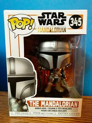 Funko Pop Star Wars THE MANDALORIAN (GUN TO THE SIDE)! Brand New In Hand! #345
