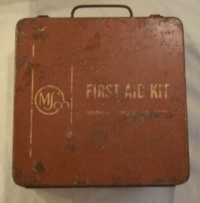 Vintage MSCo First Aid Kit ( Used in Original Metal box )