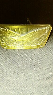 "American Eagle Bass Buckle ""Freedom Is Not Free"", Sponsor 2014 Collectible"