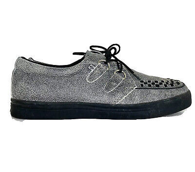 Grey Suede EZC Shoes Shoes A9257 Unisex-Adult Creepers T.U.K