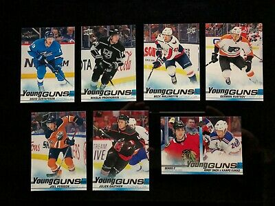 2019-20 Upper Deck Series 2 Young Guns 7 Card Lot