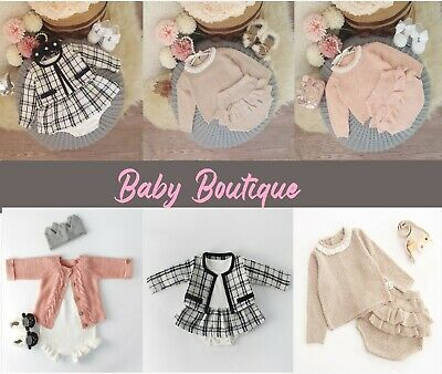 Baby Girl Boutique Toddler Clothing Knitted Outfit Sets