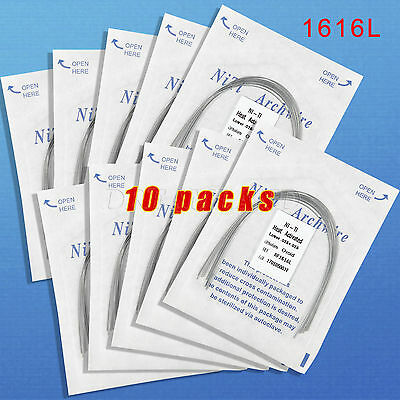 10 Dental Orthodontic Heat Thermal Activated Niti Rectangular Arch Wire 16*16L V