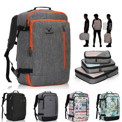 """Hynes Eagle 38L 20"""" Travel Backpack Carry On Weekender Bag w/3pcs Packing Cubes"""