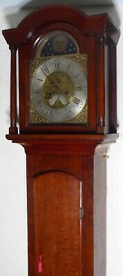 "Antique  "" Marlbro ""  Brass  Dial 8 Day  Longcase / Grandfather Clock"
