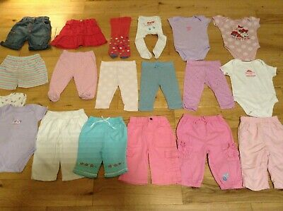 3-6 Months Baby Girl's Large Bundle Joblot of Mixed Clothes