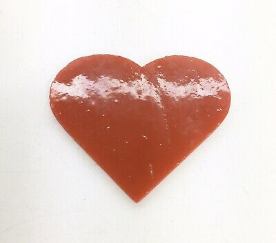Fused Glass Red Heart Opal Medium Coe90 Fused Fusing Glass Supplies Craft