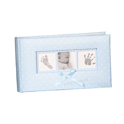 "Baby Boy Blue White Polka Dot Photo Album 100 Photographs 6"" x 4"" Picture Book"