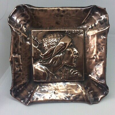 Antique Arts & Crafts Movement Figural Copper Dish Alibaba Design Man