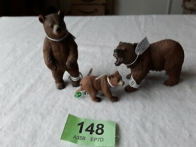 Schleich Wild Animals Grizzly Bear 3 2012 All With Labels  Lot 148