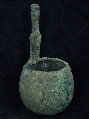 Ancient Large Size Bronze Ladle Islamic 1200 AD #BR6401