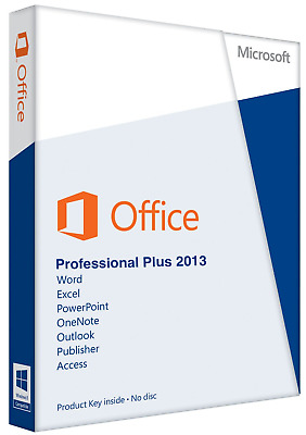 Microsoft Office 2013 Professional Plus Key Downloadlink 32/64BIT x86 x64 MS Pro