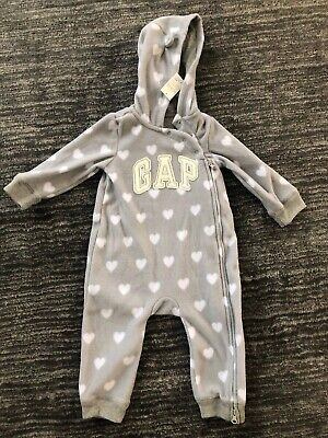 Girls Grey Gap Heart All In One Suit 12-18months