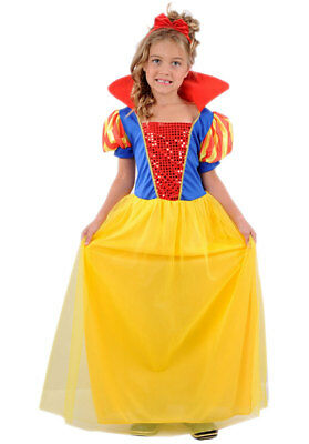 Girls Blue Princess Choker Fairytale Book Day Fancy Dress Costume Outfit 4-12y