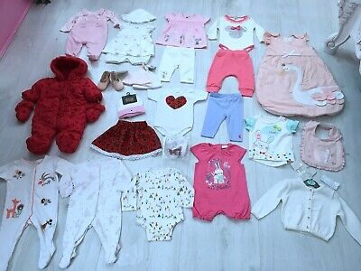 Baby Girls Clothes Bundle Age 0-3 Months 25 Items Next Joules Mothercare