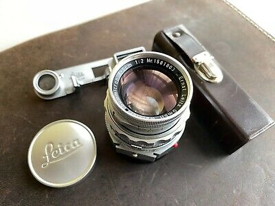 Beautifully Clean 50mm Summicron-M Dual Range with Attachment and Case