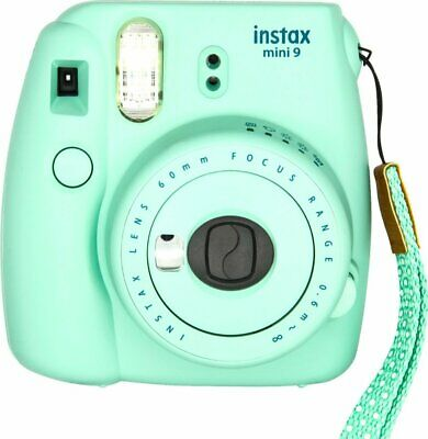 FUJIFILM INSTAX Mini 9 Instant Film Camera (Mint Green) - In Box - VG