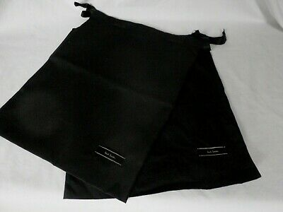 Paul Smith Large Black Cotton  Shoe Dustbags Sleeper Bags 1 pair