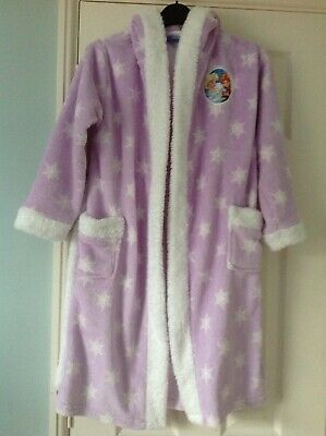 Girl's 'Frozen' themed Hooded Dressing Gown, Age 8/9Yrs