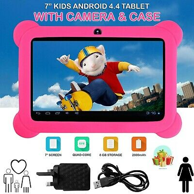 "7"" INCH KIDS ANDROID 4.4 TABLET PC QUAD CORE WIFI Camera FOR CHILDREN CHILD UK"
