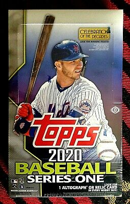 2020 Topps Series 1 Baseball  TWO factory sealed Hobby Boxes  w Silver Packs