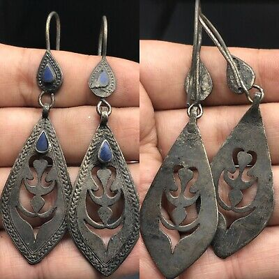 Unique antique Silver wonderful  lapis Stone Lovely Earring