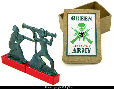 Magnetic green Army Soldiers boxed magnet toy set