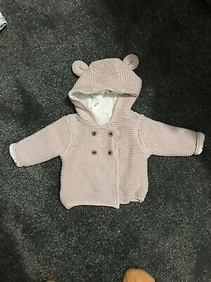 Girls Newborn Cardigan Brand New M&S