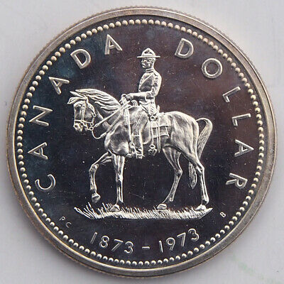 Kanada/Canada 1 Dollar 1973 Silber PL Royal Canadian Mountied Police