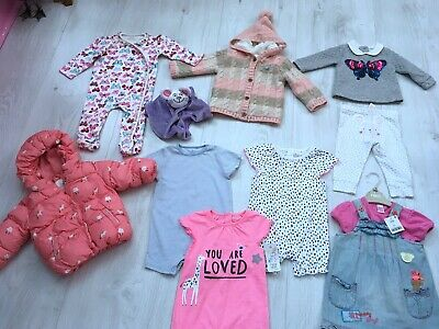 Baby Girls Clothes Bundle Age 6-9 months 11 Items Next George F&F