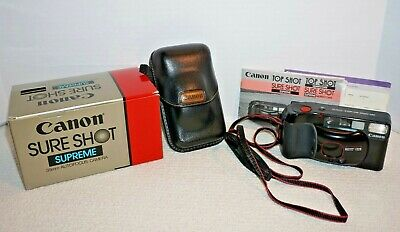 Canon Sure Shot Supreme Camera 38mm 1:2.8 Autofocus Point Shoot With Box