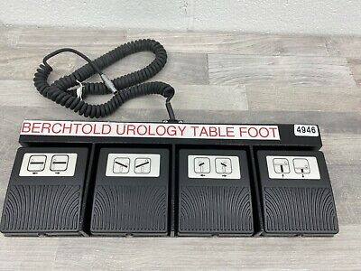Berchtold 4 Pedal Urology Table Foot Switch 4946