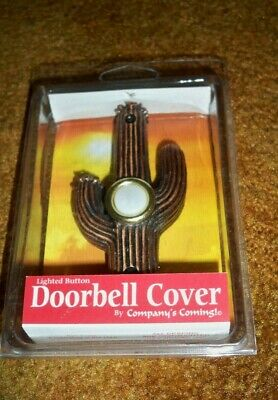 New Cactus Faux Copper Resin Doorbell Cover Lighted Southwestern Companys Coming