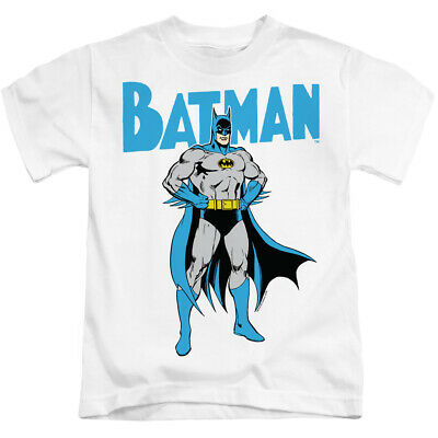 Batman Boys T-Shirt Pose White Tee
