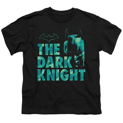 Batman Kids T-Shirt The Dark Knight Pattern Black Tee