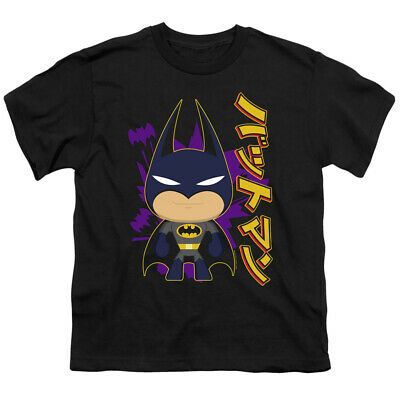 Batman Kids T-Shirt Cartoon Kanji Black Tee