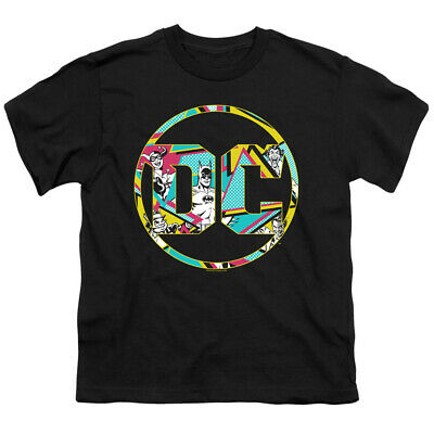 Batman Kids T-Shirt Colorful DC Comics Logo Black Tee