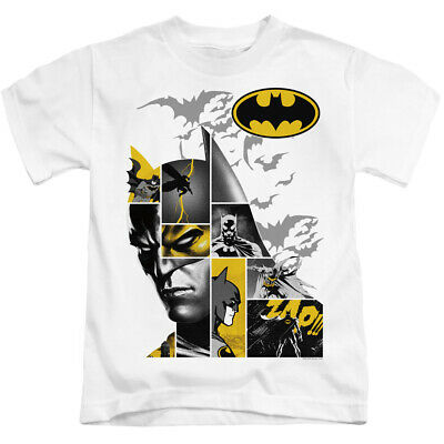 Batman Boys T-Shirt Collage White Tee