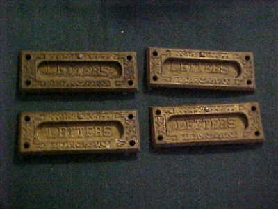 ONE Eastlake Victorian Style Cast Iron LETTERS Mail Slot 4 Matching Available