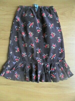 Girls Mini Boden needle cord skirt with frill. Age 5-6 years.