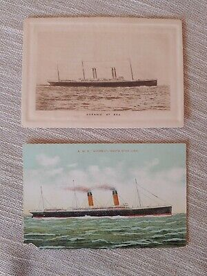 rare White Star Line photo abstract of log lot Postcard (2) Oceanic