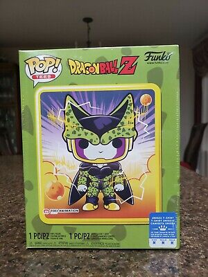 Funko POP! and Tee #13 Perfect Cell Metallic Gamestop Exclusive DBZ size Medium