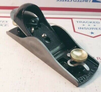 """Old Stanley No. 15 Block Plane with Adjustable Throat USA carpentry hand tool 7"""""""