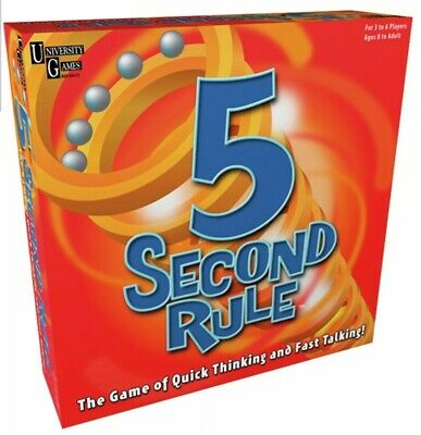 5 Second Rule Game University Games 3+ Players 8+ Years