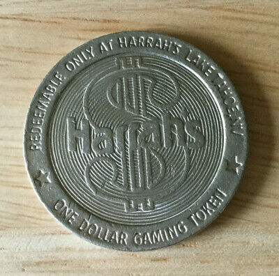 Lake Tahoe NV - Harrah's Casino $1 Chip / Coin