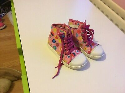 Girls Size 27 Euro Boots Agatha Ruiz De La Prada. Side Zips And Laces.