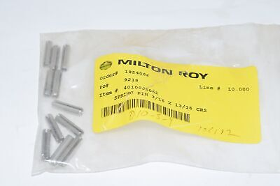 Pack of 11 NEW Milton Roy 4010005062 Spring Pin 3/16 x 13/16