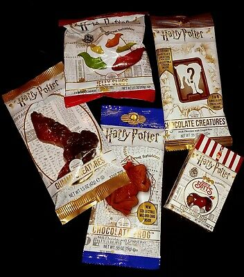 New 5 Fresh Harry Potter Candy Jelly Belly Beans Slugs Chocolate Frogs Creatures